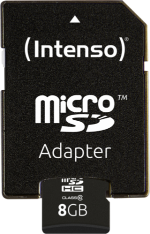 Intenso Micro SD Card Class 10 8GB (3413460)