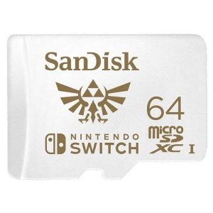 SanDisk 64GB microSDXC Card for Nintendo Switch (R:100/W:90 MB/s, UHS-I, V30, U3, C10, A1) licensed Product, Super Mario SDSQXAT-064G-GNCZN